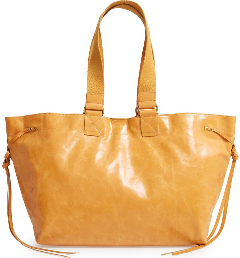 ISABEL MARANT Wardy New Leather Shopper, Main, color, 200