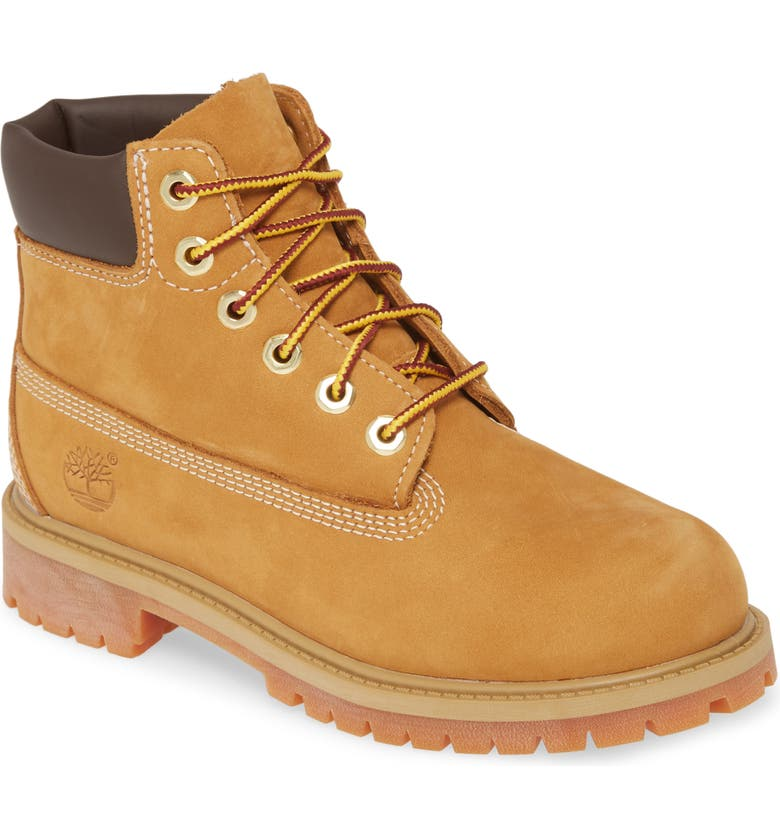 TIMBERLAND 6-Inch Premium Waterproof Boot, Main, color, WHEAT NUBUCK