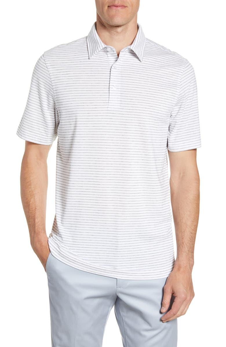 VINEYARD VINES Regular Fit Polo, Main, color, BARRACUDA