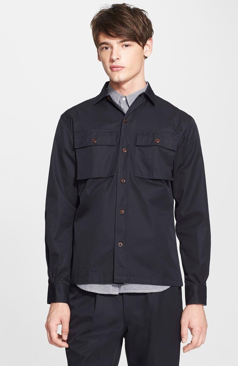 c041f1429 Officine Generale Trim Fit Cotton Twill Shirt Jacket | Nordstrom