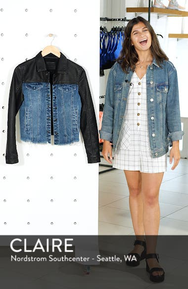 Faux Leather & Denim Jacket, sales video thumbnail