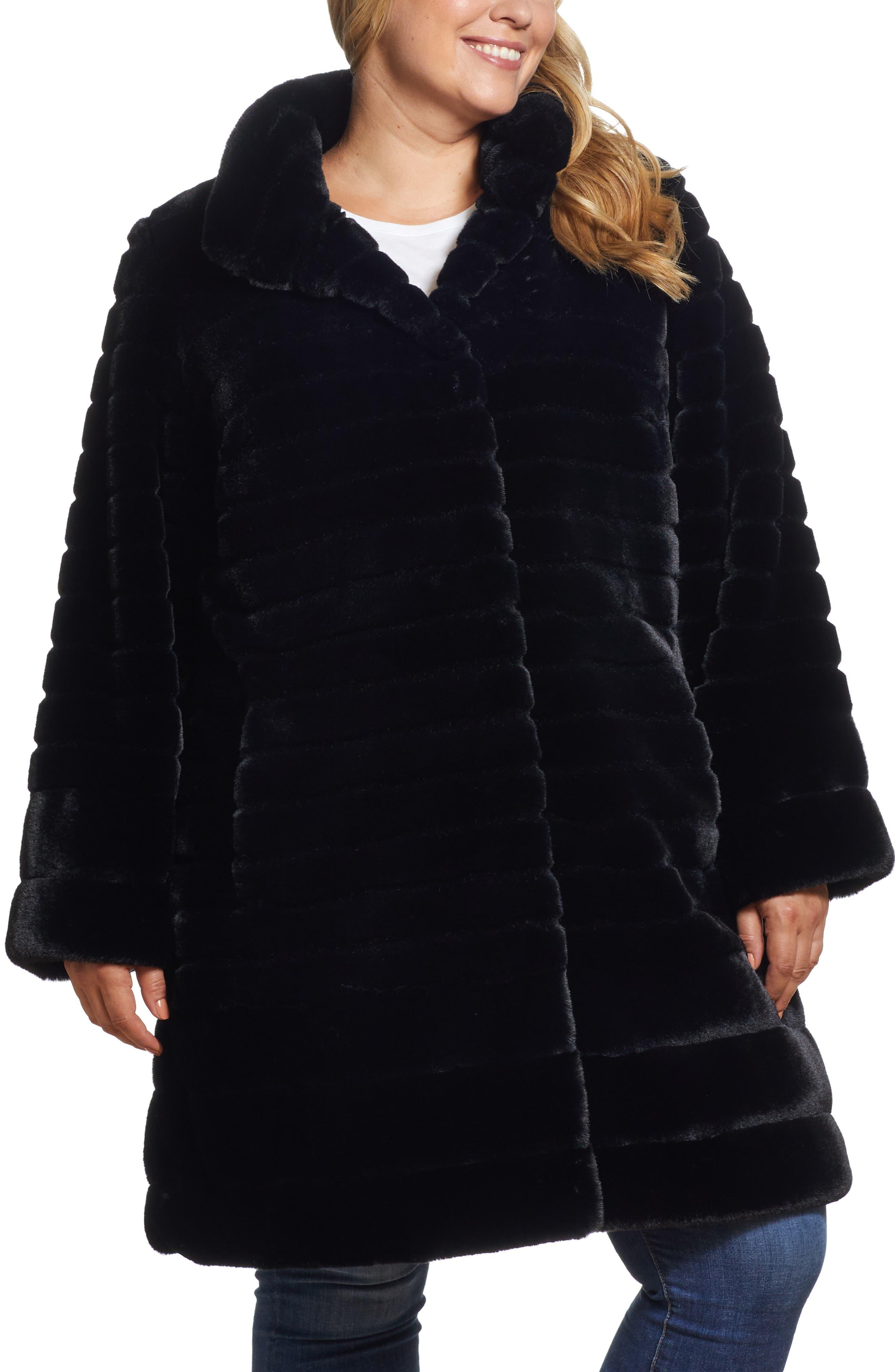 Faux Fur Swing Jacket