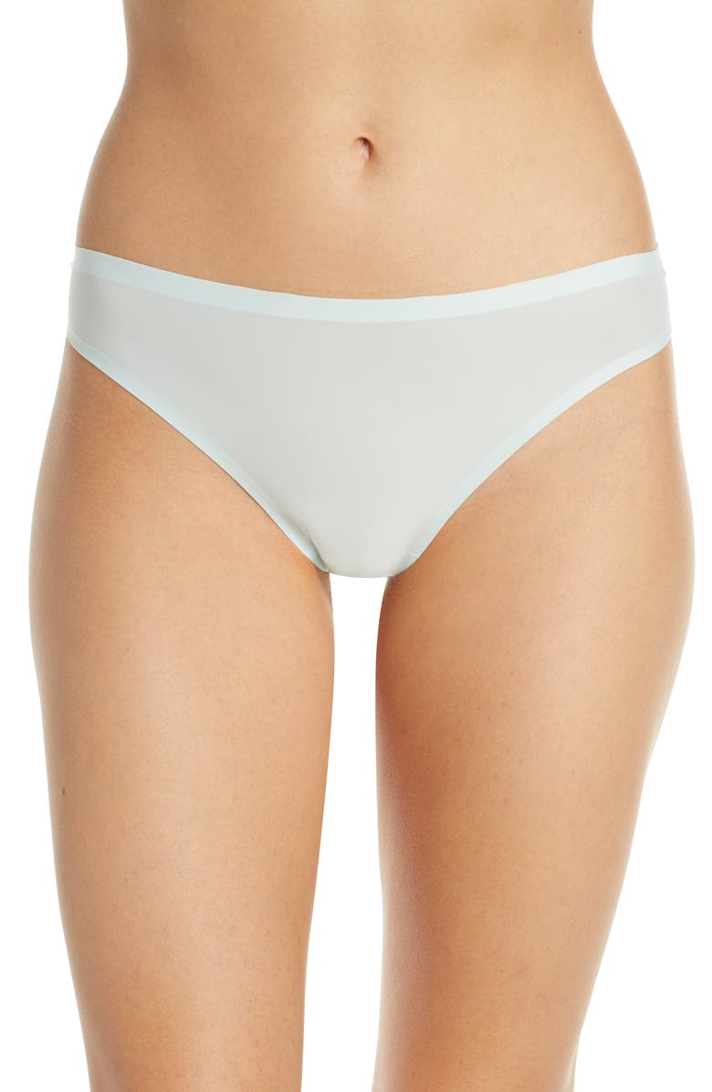 CHANTELLE LINGERIE Soft Stretch Seamless Thong, Main, color, CRYSTAL BLUE