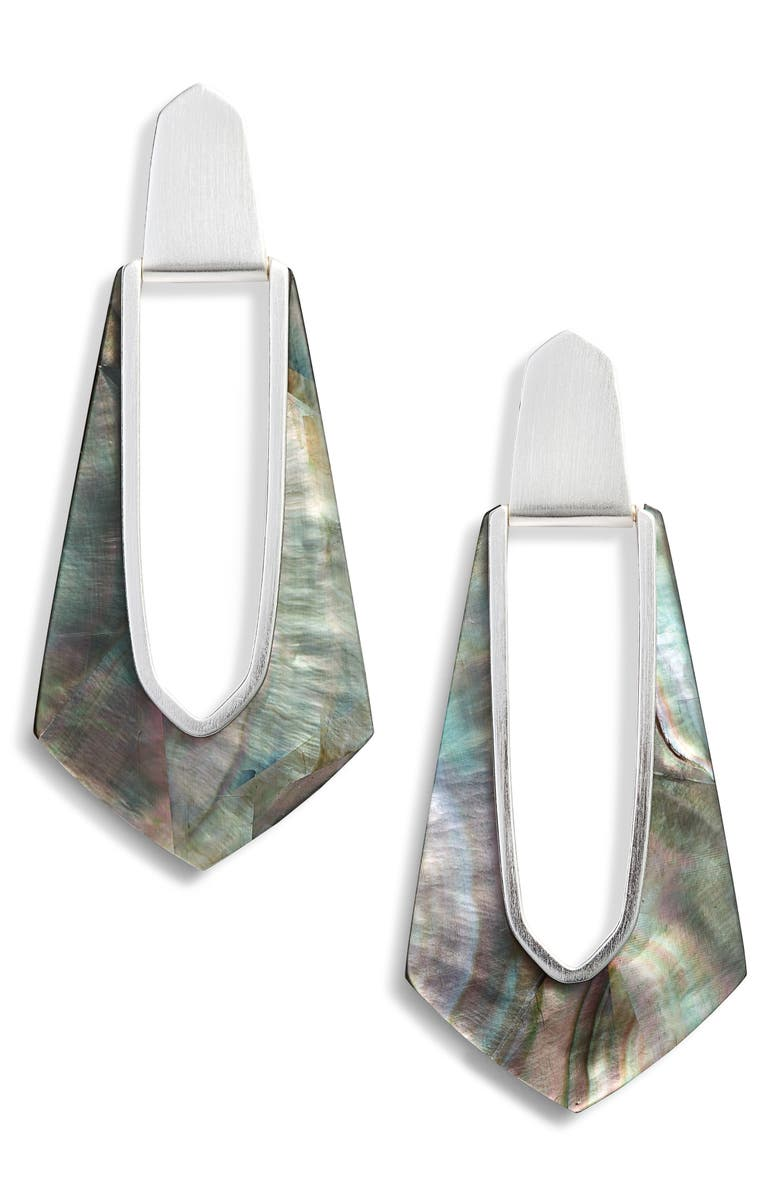 KENDRA SCOTT Kiernan Elongated Drop Earrings, Main, color, 001