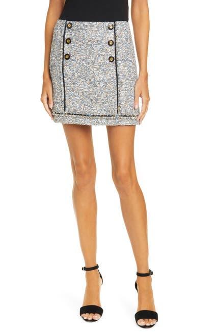 Image of VERONICA BEARD Alfie Tweed Skirt