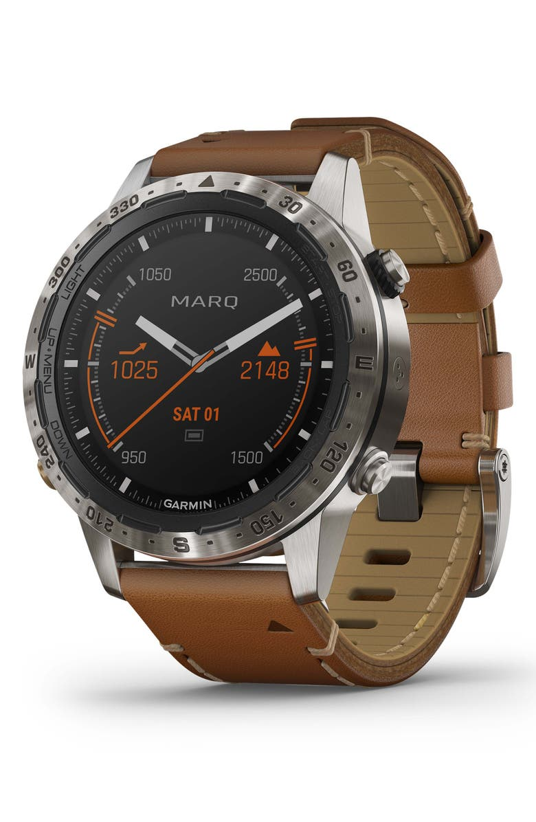 GARMIN MARQ Expedition GPS Smart Watch, 46mm, Main, color, BROWN