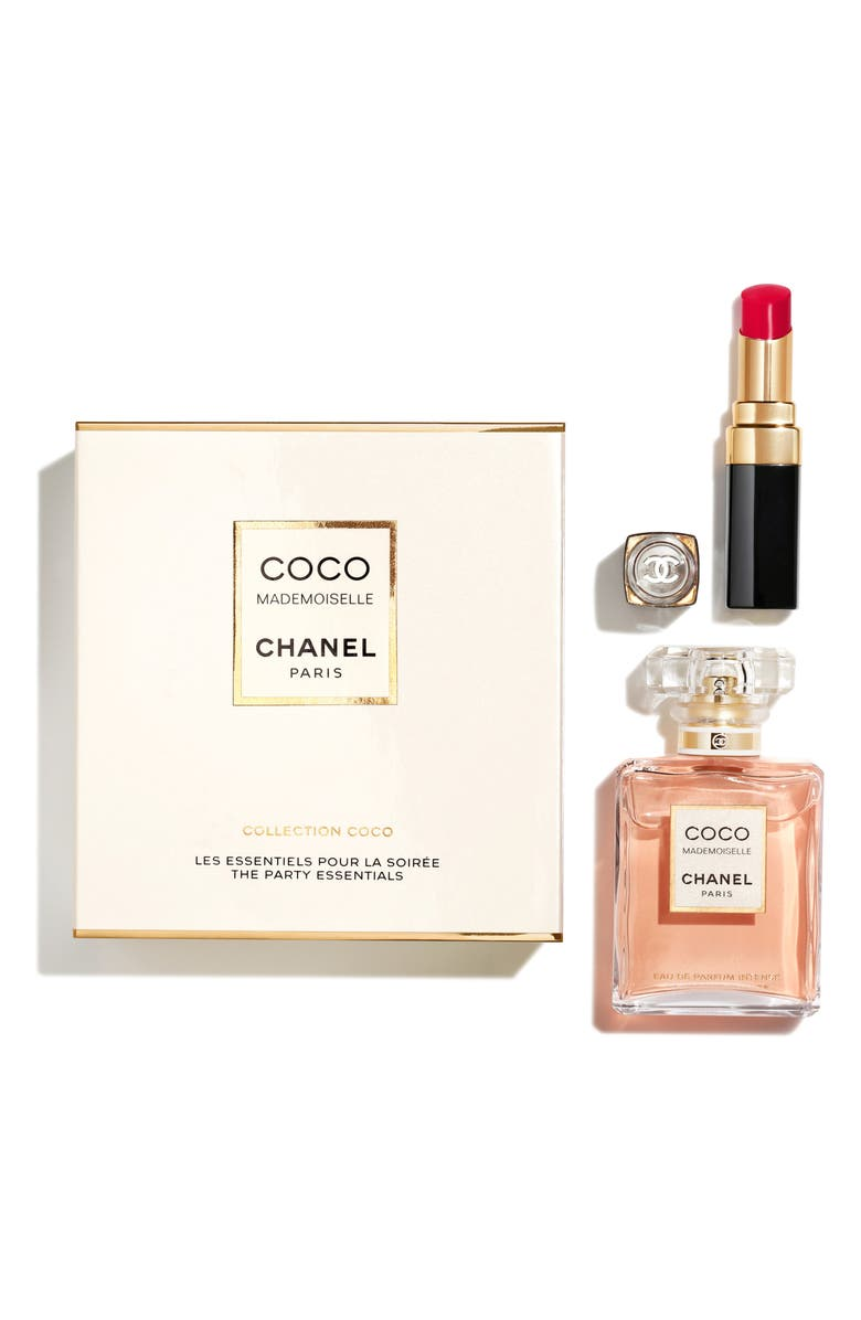 CHANEL COCO MADEMOISELLE <br />The Party Essentials Eau de Parfum Intense + Rouge Coco Flash, Main, color, NO COLOR
