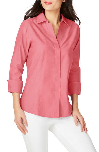 Foxcroft T-shirts FITTED NON-IRON SHIRT