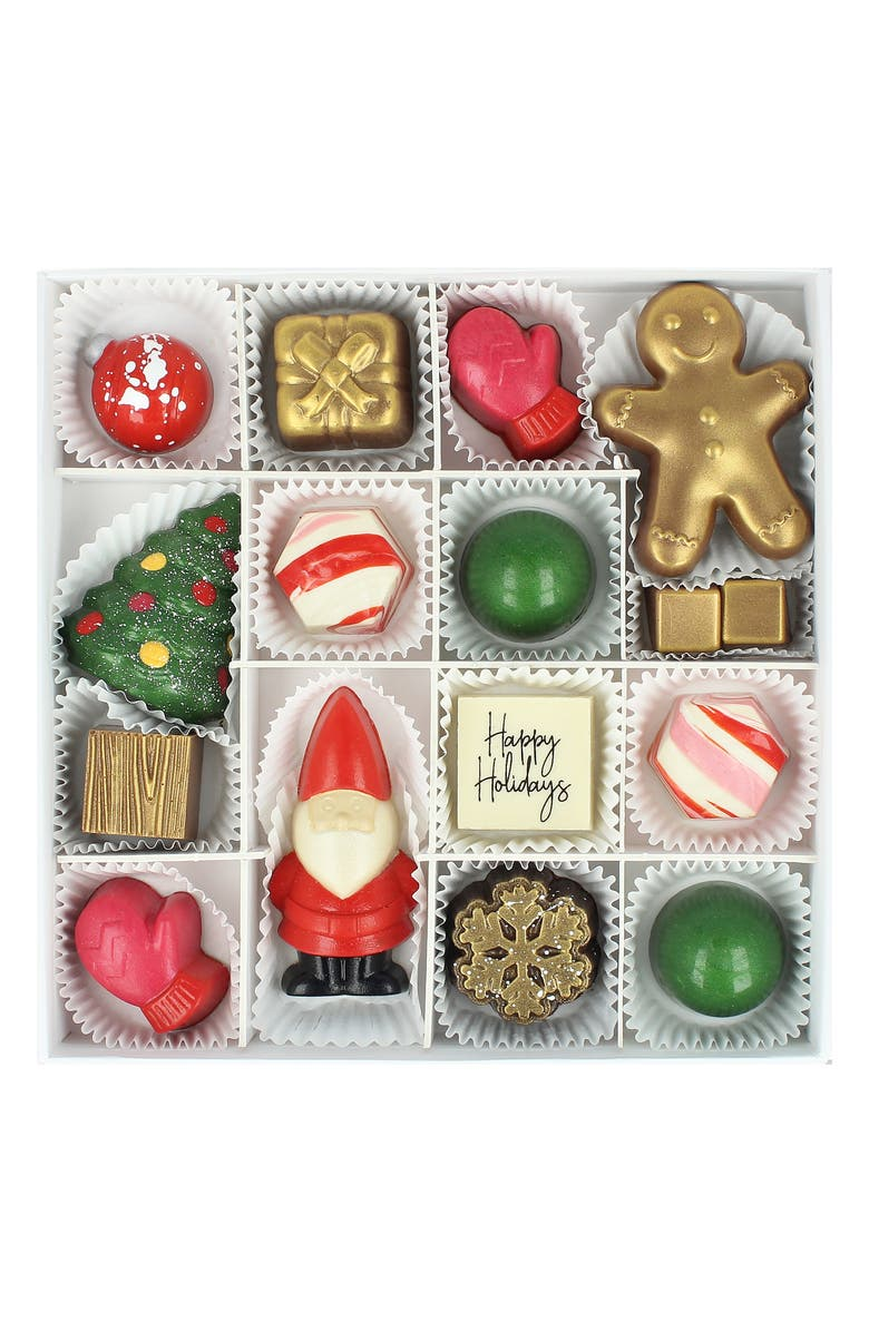 MAGGIE LOUISE CONFECTIONS Naughty Or Nice 13-Piece Chocolates, Main, color, WHITE