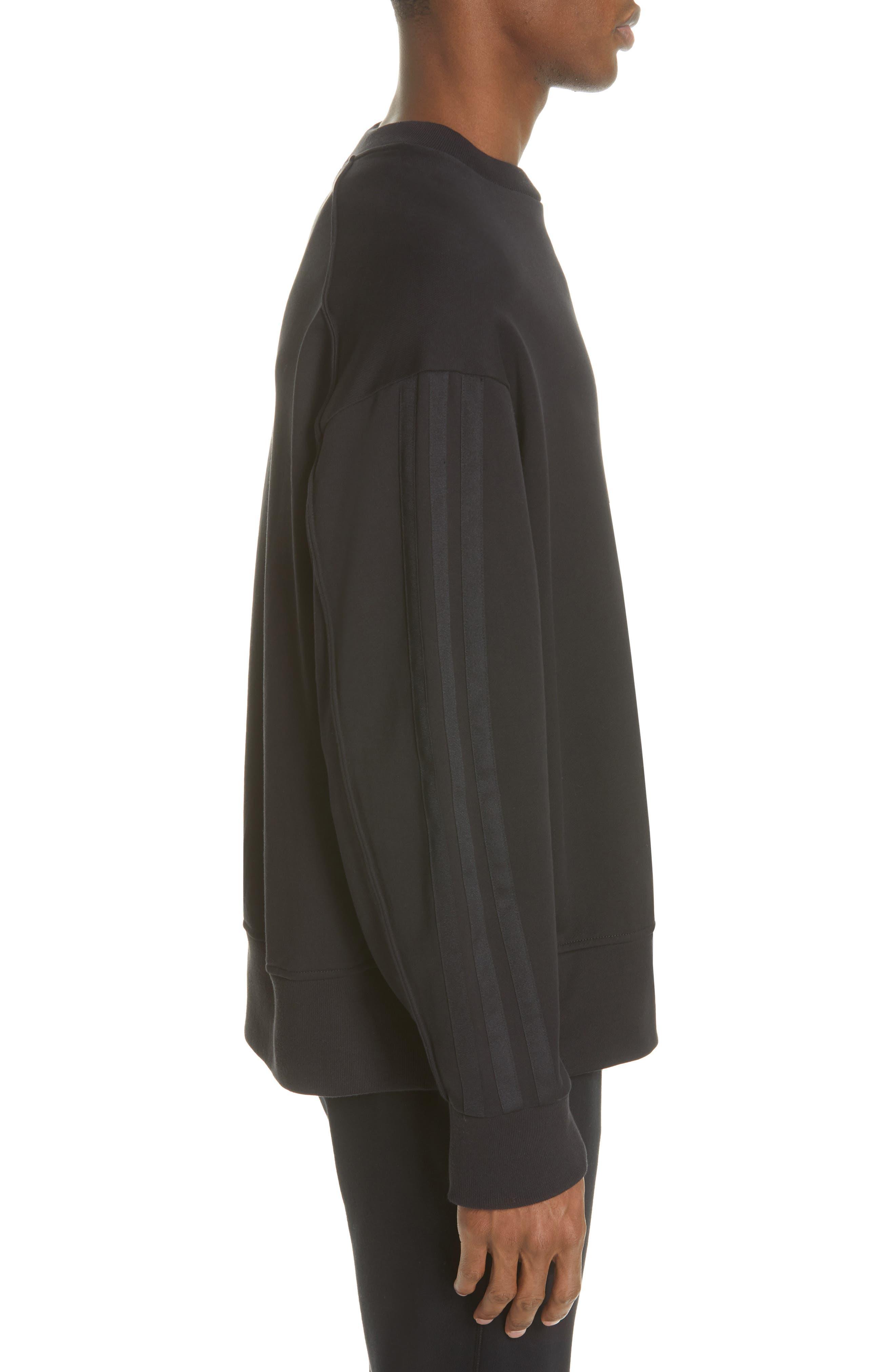 ,                             x adidas Skull Crewneck Sweatshirt,                             Alternate thumbnail 3, color,                             BLACK