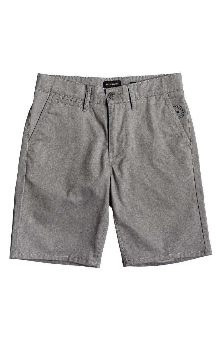 QUIKSILVER Everyday Union Stretch Shorts, Main, color, LIGHT GREY HEATHER