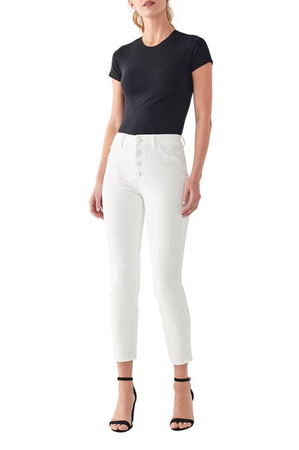 Image of DL1961 Farrow Cropped High Rise Jeans