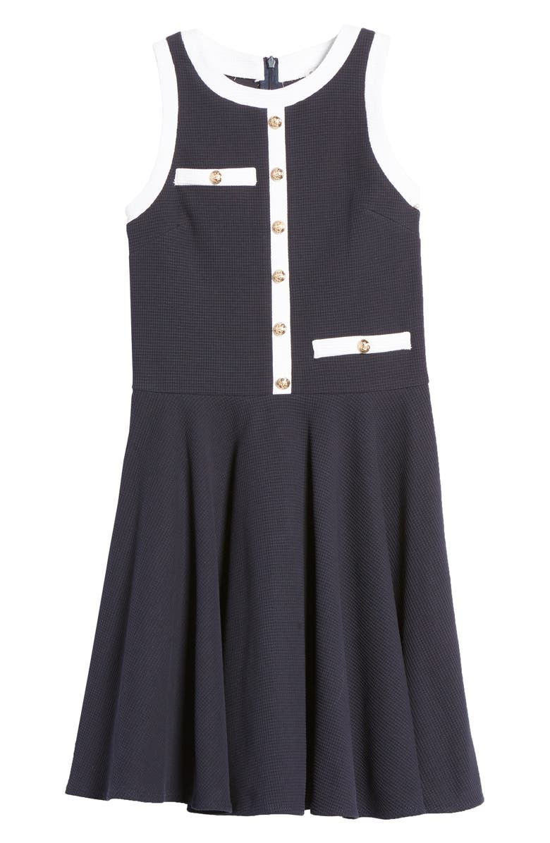 DAVID CHARLES Button Sleeveless Dress, Main, color, 420