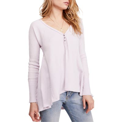 Free People Citrine Textured Cotton Blend Top, Pink