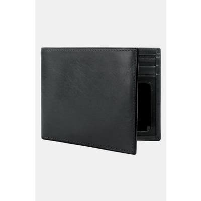 Bosca Leather Bifold Wallet - Black