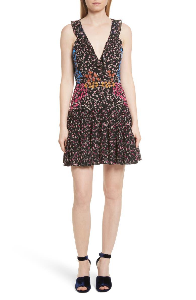 SALONI Amy Fit & Flare Dress, Main, color, 005
