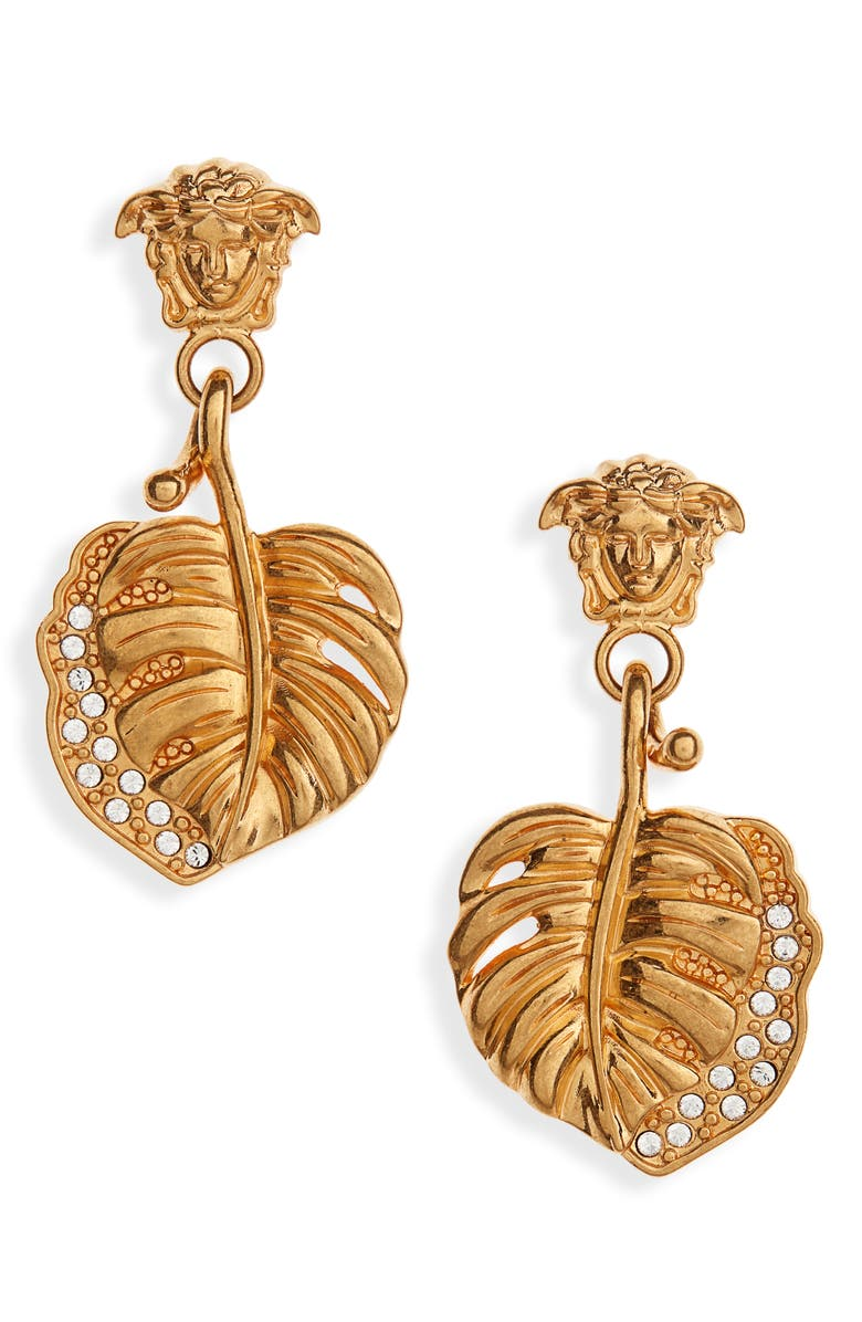 VERSACE FIRST LINE Medusa Jungle Drop Earrings, Main, color, 710