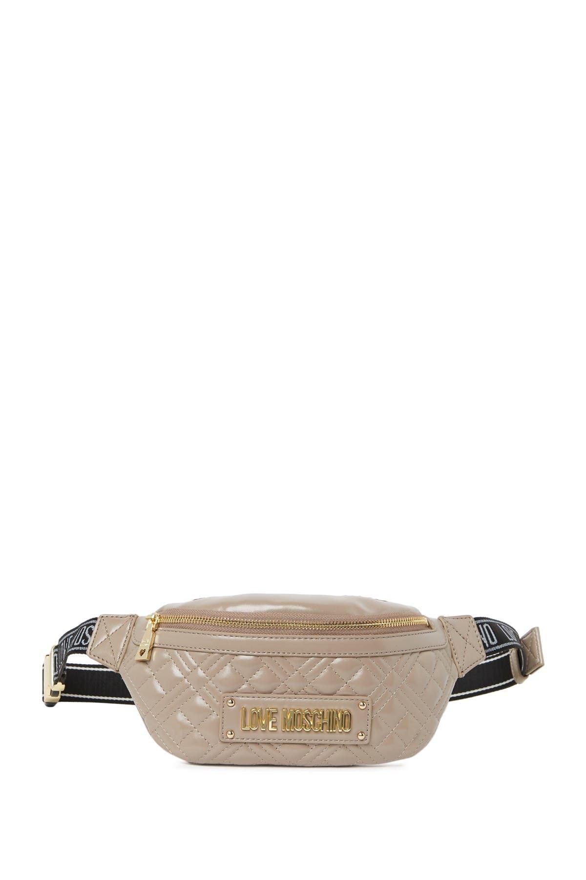 Love Moschino Belt bags BORSA QUILTED NAPPA GRIGIO BELT BAG