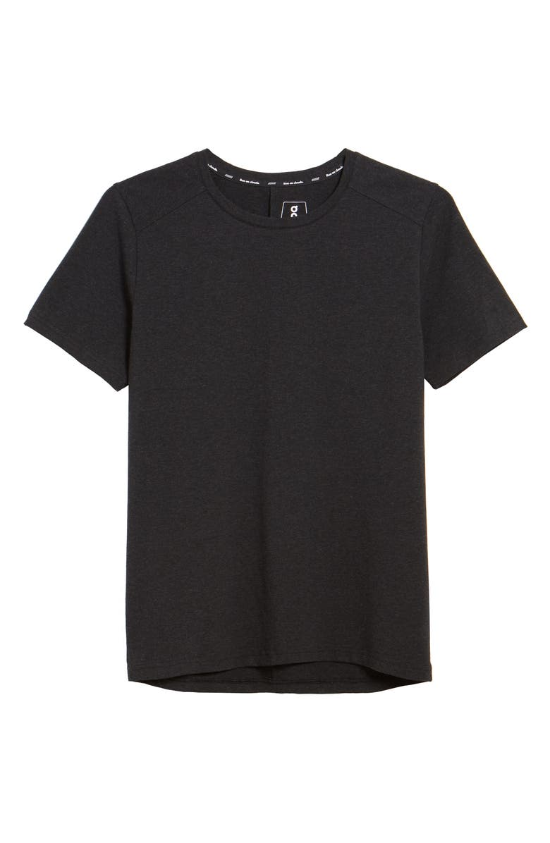 ON Stretch Organic Cotton T-Shirt, Main, color, BLACK