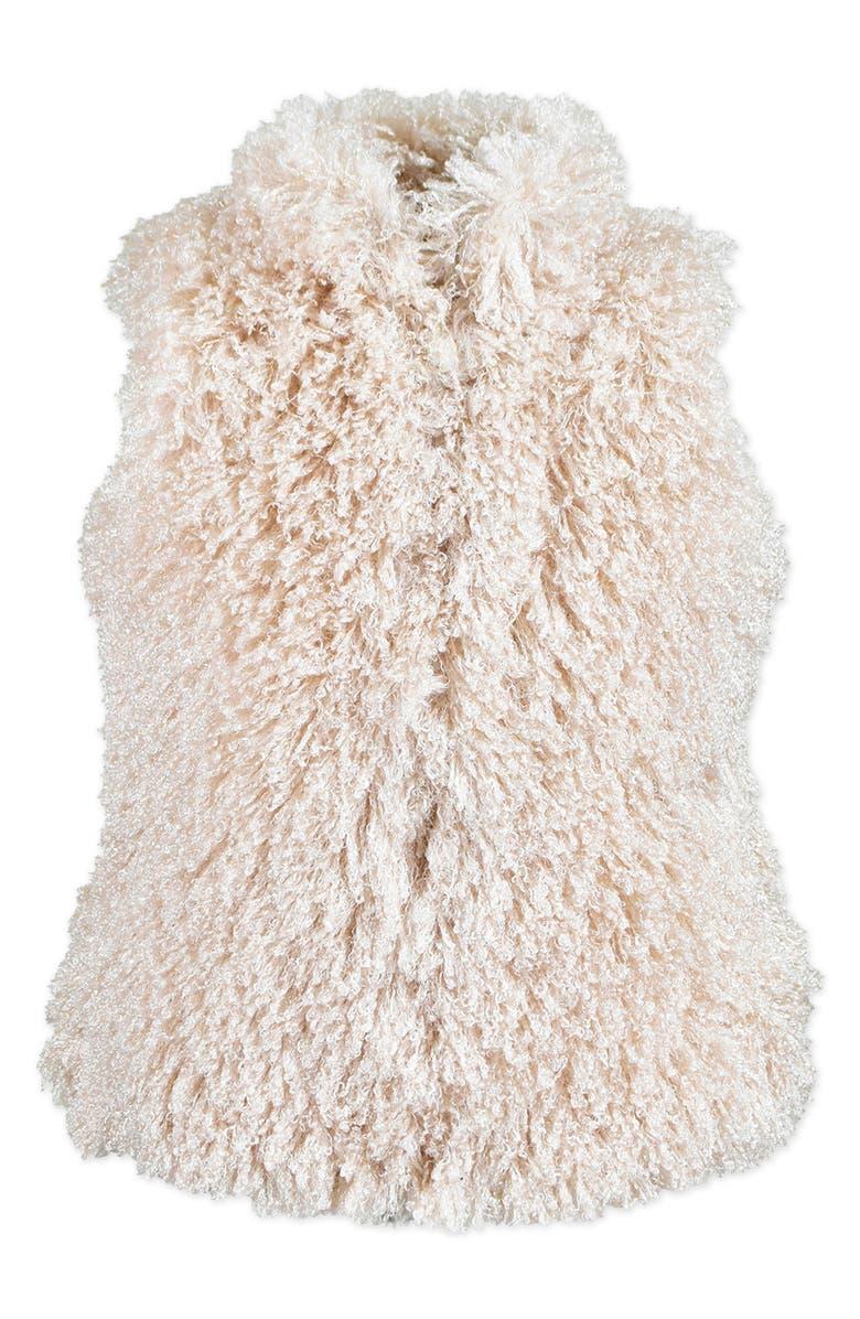 WIDGEON Teddy Faux Fur Vest, Main, color, PDB - BLUSH SOFT POODLE