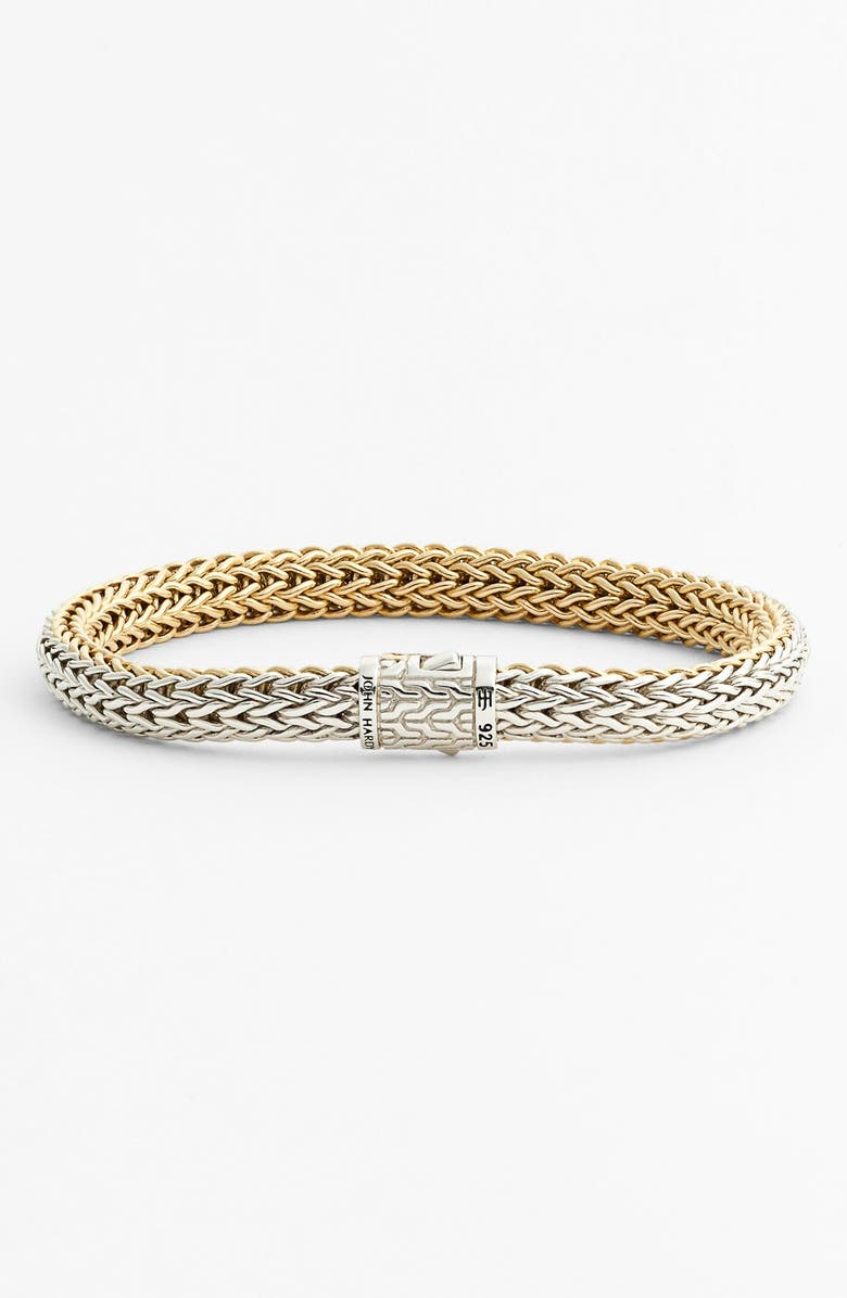 JOHN HARDY 'Classic Chain' Small Reversible Bracelet, Main, color, GOLD/ SILVER