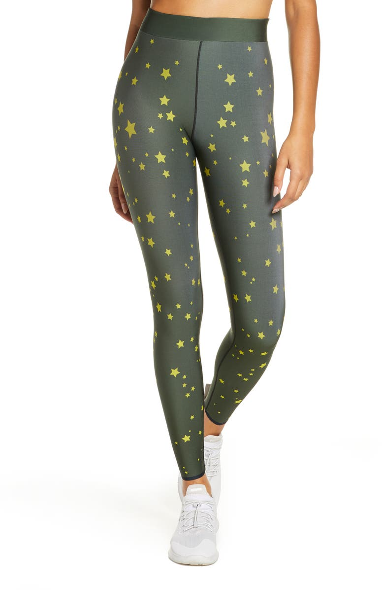 COR DESIGNED BY ULTRACOR Galaxy Leggings, Main, color, OLIVE / NEON