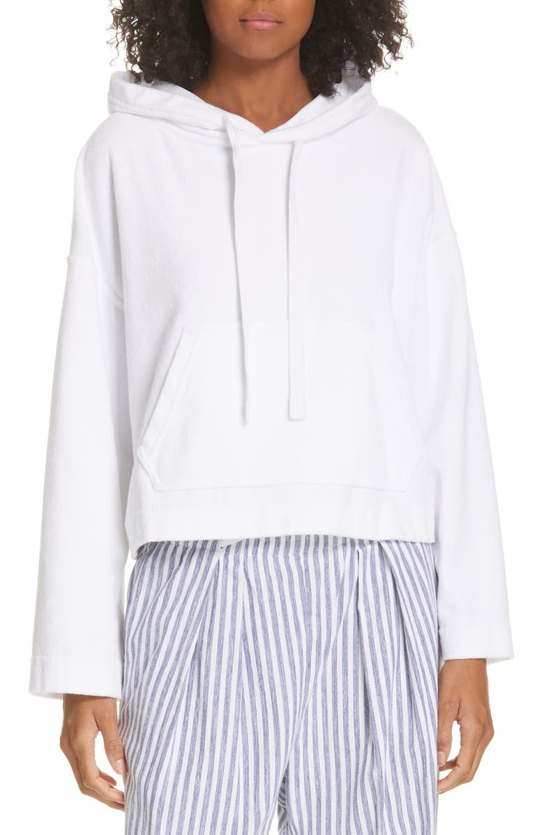 VINCE Wide Sleeve Hoodie, Main, color, OPTIC WHITE