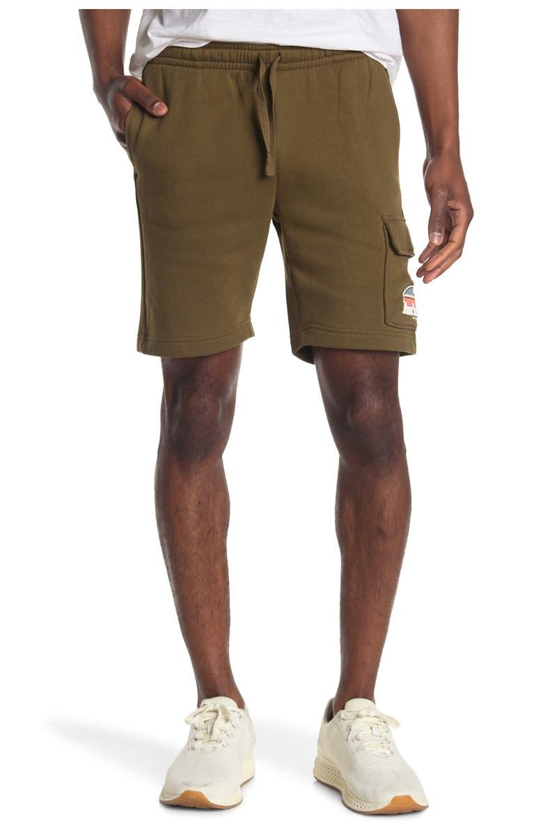 HURLEY Rise & Jam Fleece Shorts, Main, color, OLIVE