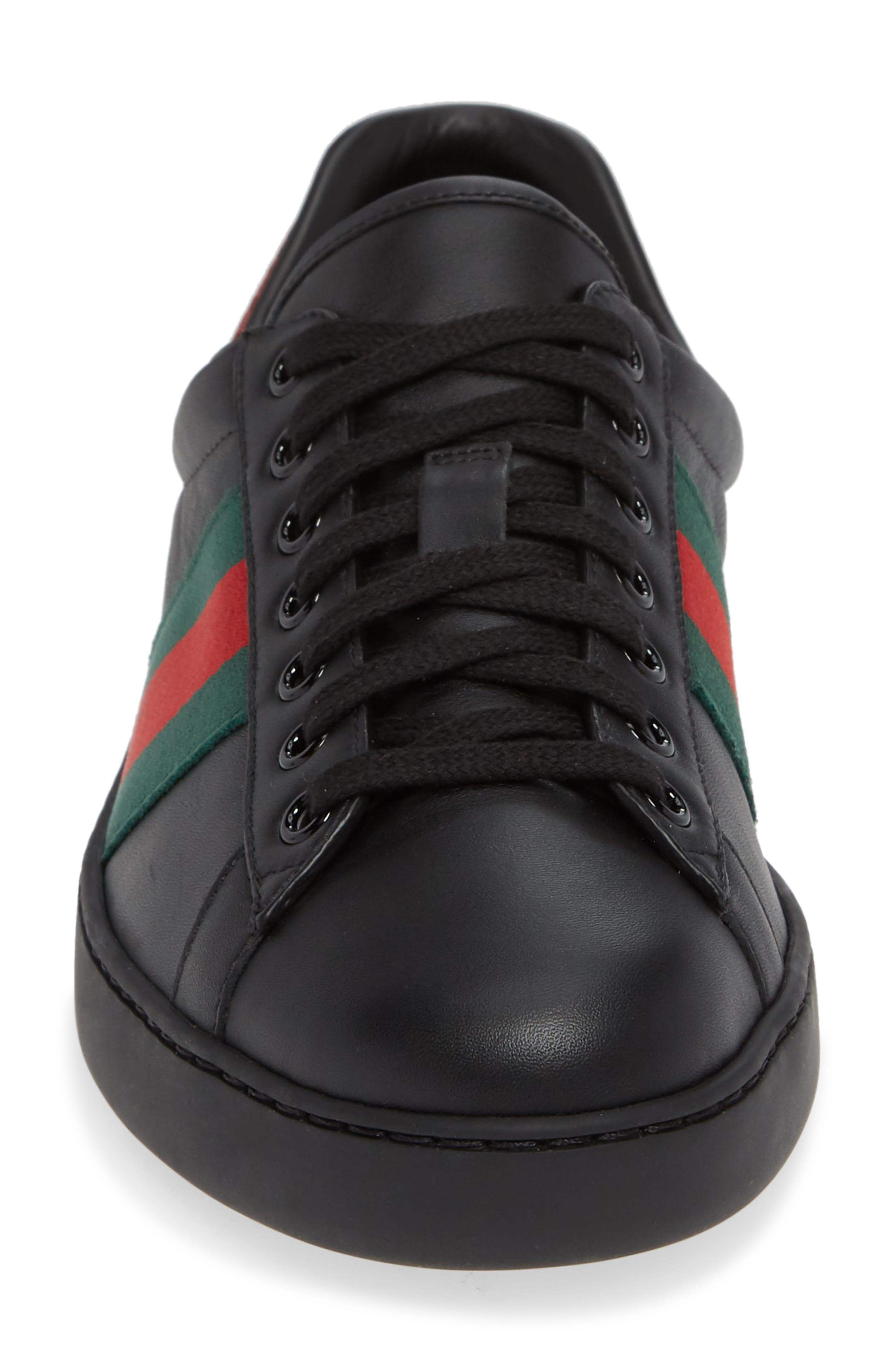 ,                             New Ace Clean Sneaker,                             Alternate thumbnail 4, color,                             BLACK/ RED