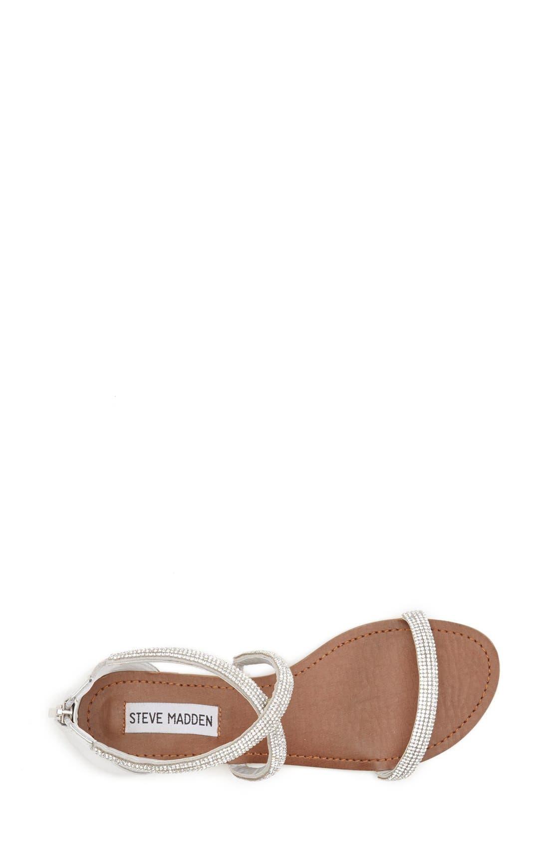 ,                             'Zsaza' Crystal Embellished Strappy Sandal,                             Alternate thumbnail 4, color,                             040