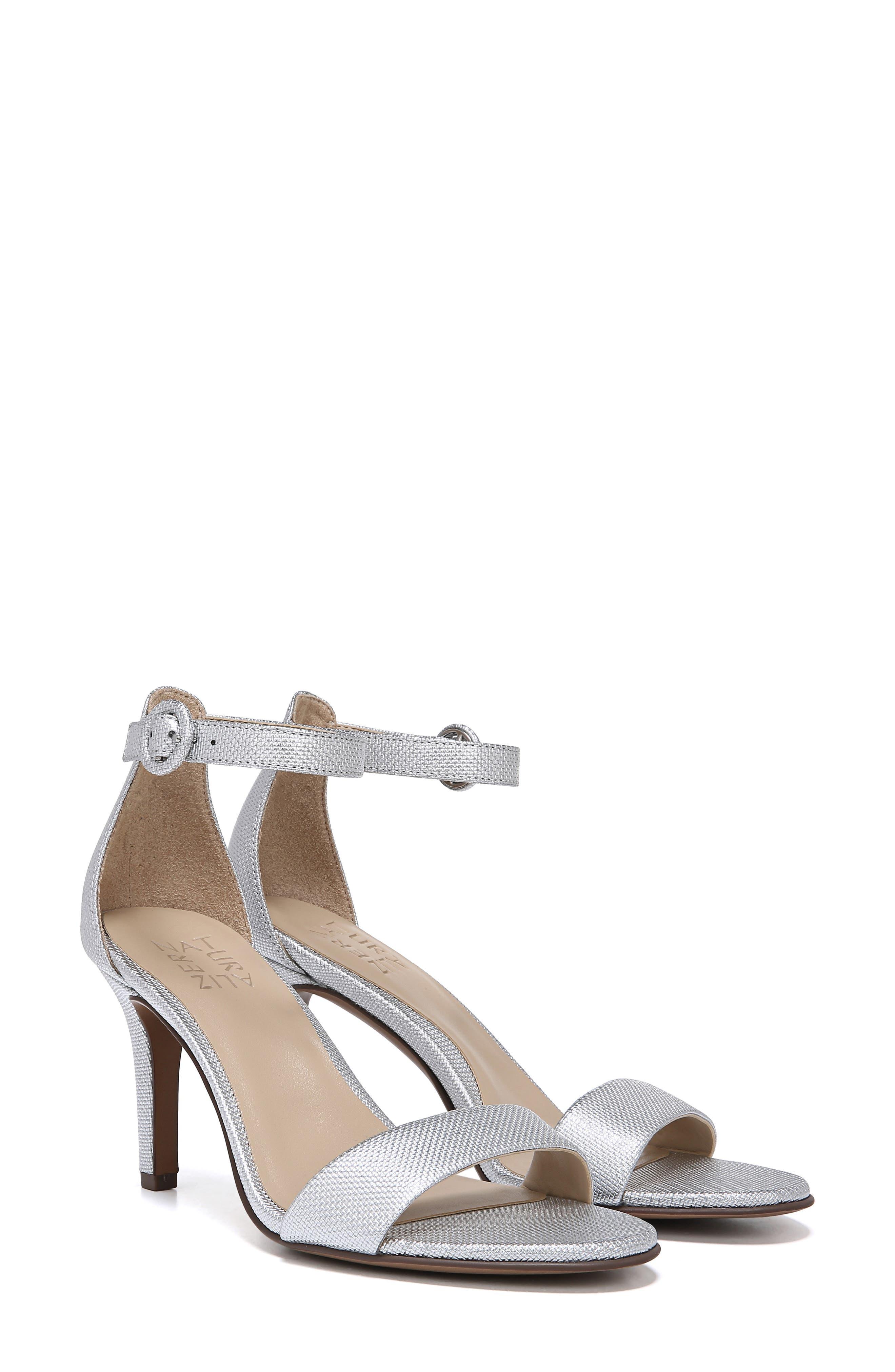 ,                             Kinsley Ankle Strap Sandal,                             Alternate thumbnail 9, color,                             SILVER