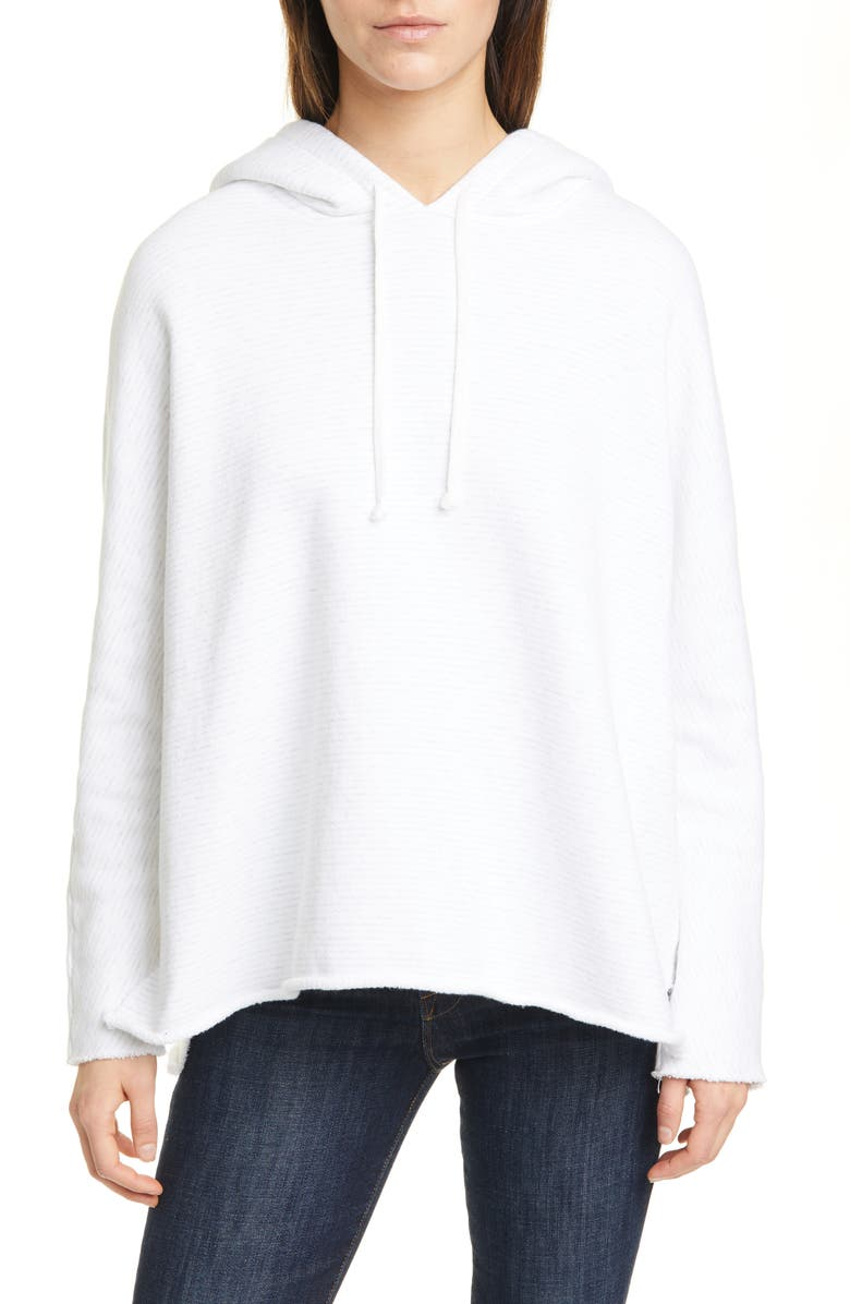 FRANK & EILEEN Relaxed Split Hem Hoodie, Main, color, 100