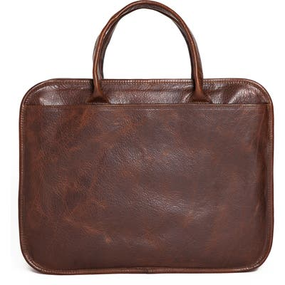 Moore & Giles Miller Leather Briefcase - Brown