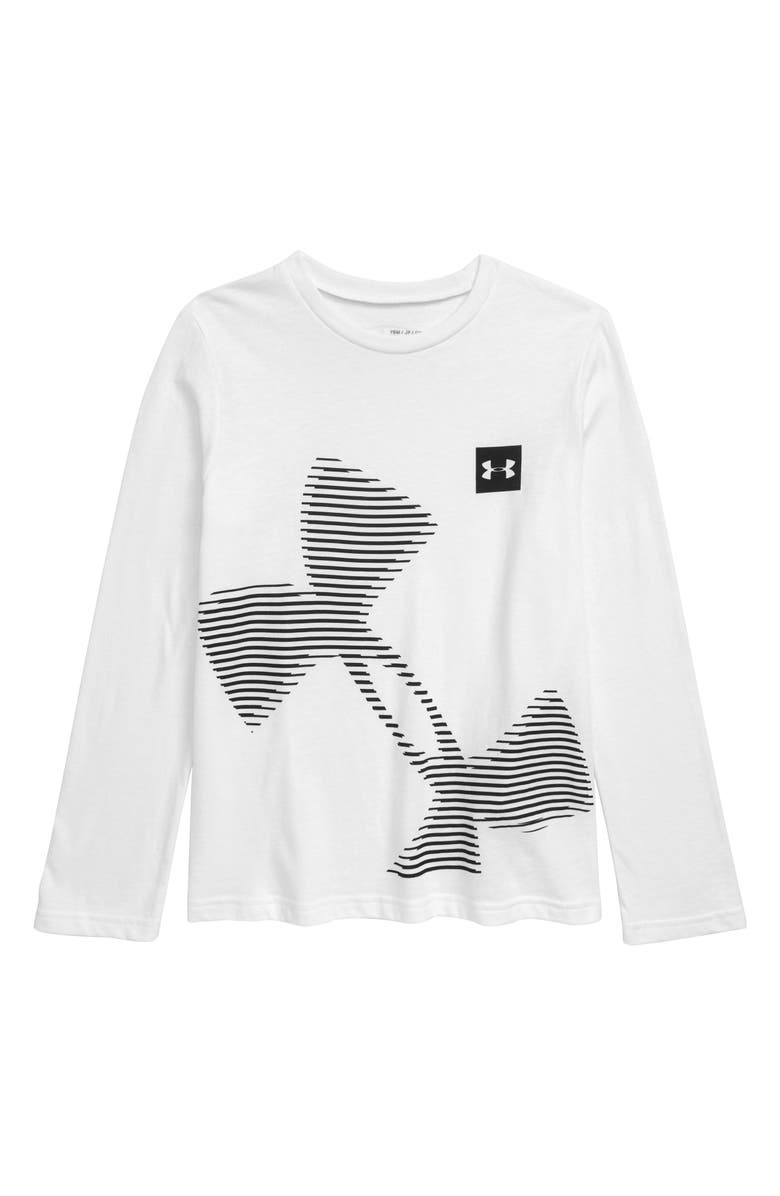 UNDER ARMOUR Tilted Logo Graphic T-Shirt, Main, color, 100