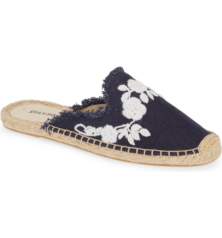 Frayed Floral Espadrille Mule by Soludos