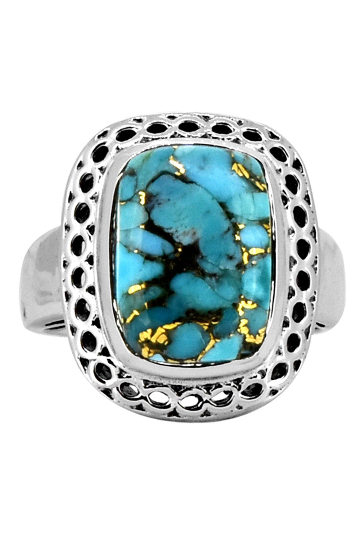Image of Nitya Blue Copper Turquoise Sterling Silver Ring