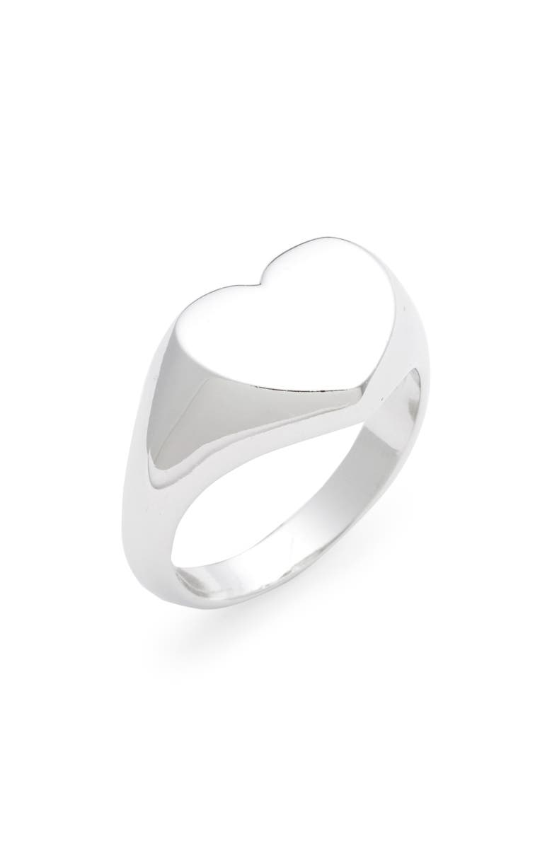 MELINDA MARIA Malia Heart Ring, Main, color, 040