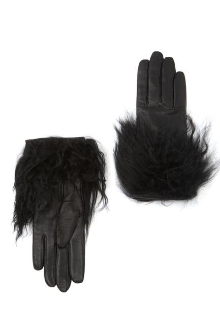 Image of UGG Touchscreen Compatible Genuine Shearling Leather Gloves