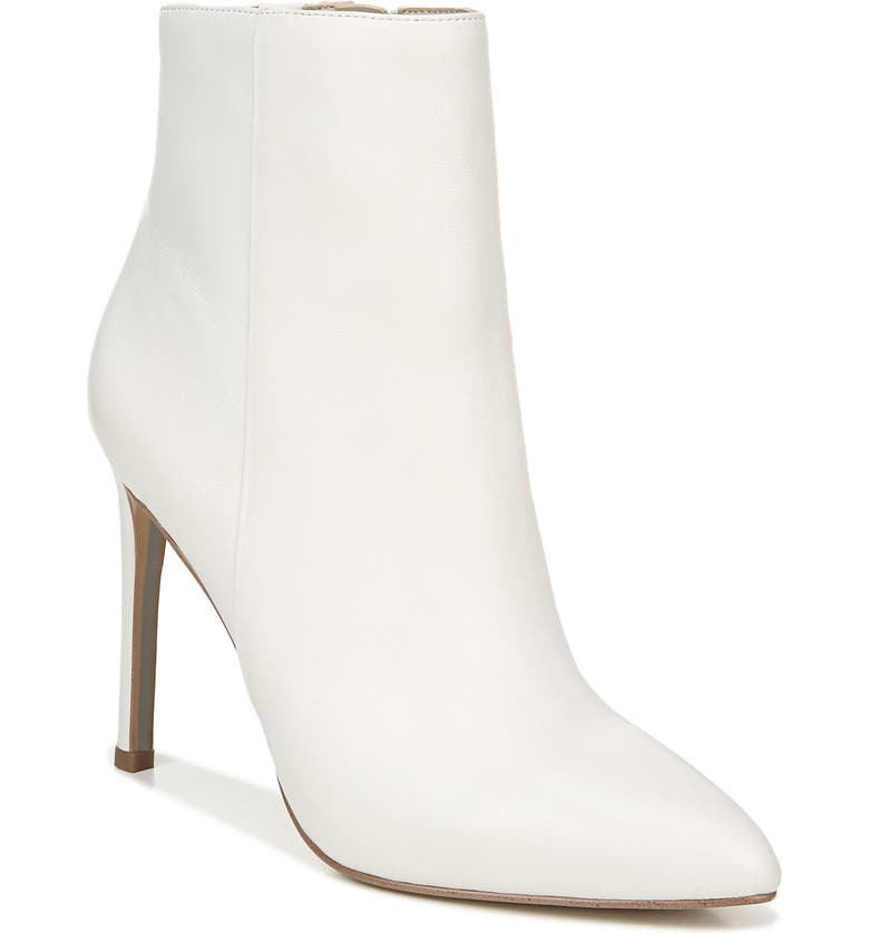 SAM EDELMAN Wren Almond Toe Bootie, Main, color, WHITE LEATHER
