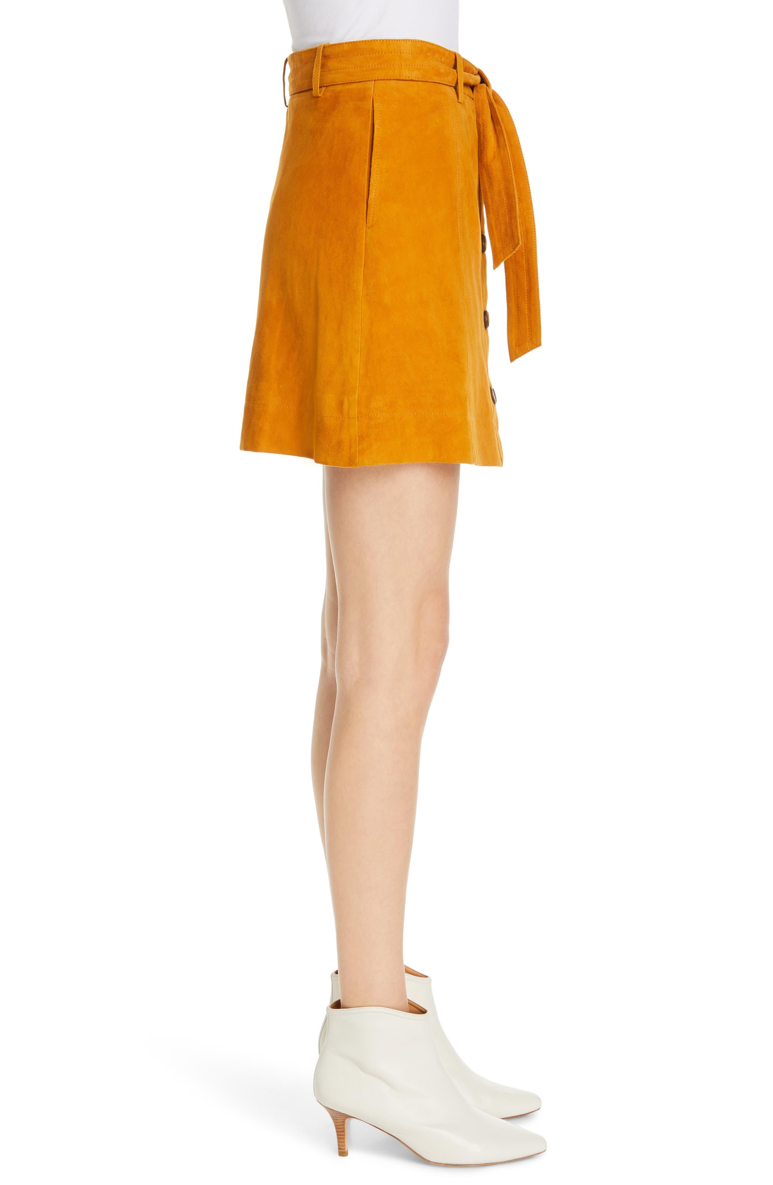 ,                             Neida Suede Miniskirt,                             Alternate thumbnail 9, color,                             800