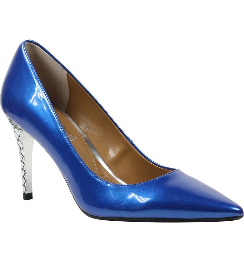 J. RENEÉ 'Maressa' Pointy Toe Pump, Main, color, BLUE PATENT