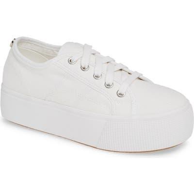 Steve Madden Emmi Platform Sneaker- White