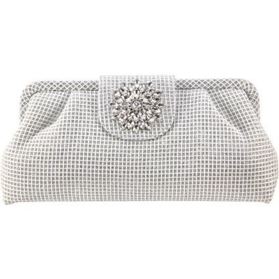 Nina Hampton Embellished Frame Clutch - Metallic
