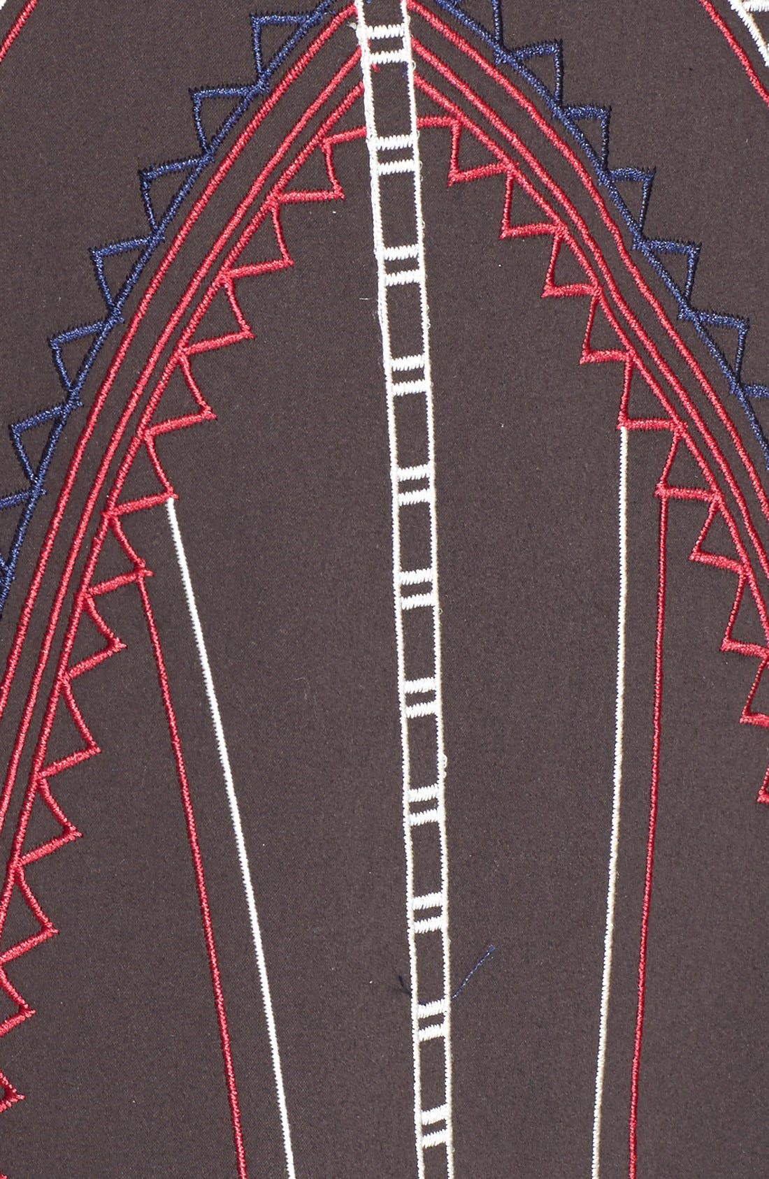 ,                             'Garnet' Embroidered Fit & Flare Dress,                             Alternate thumbnail 3, color,                             001
