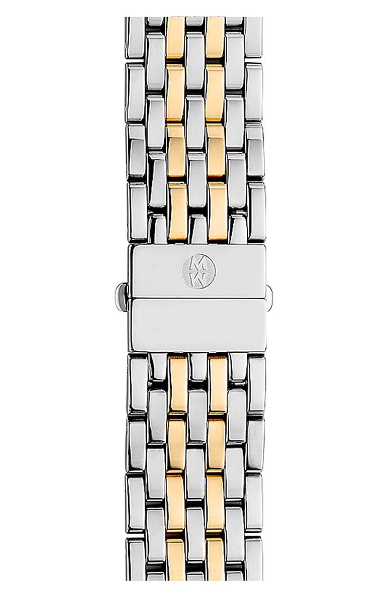 MICHELE Deco 18mm Two-Tone Bracelet Watchband, Main, color, 040