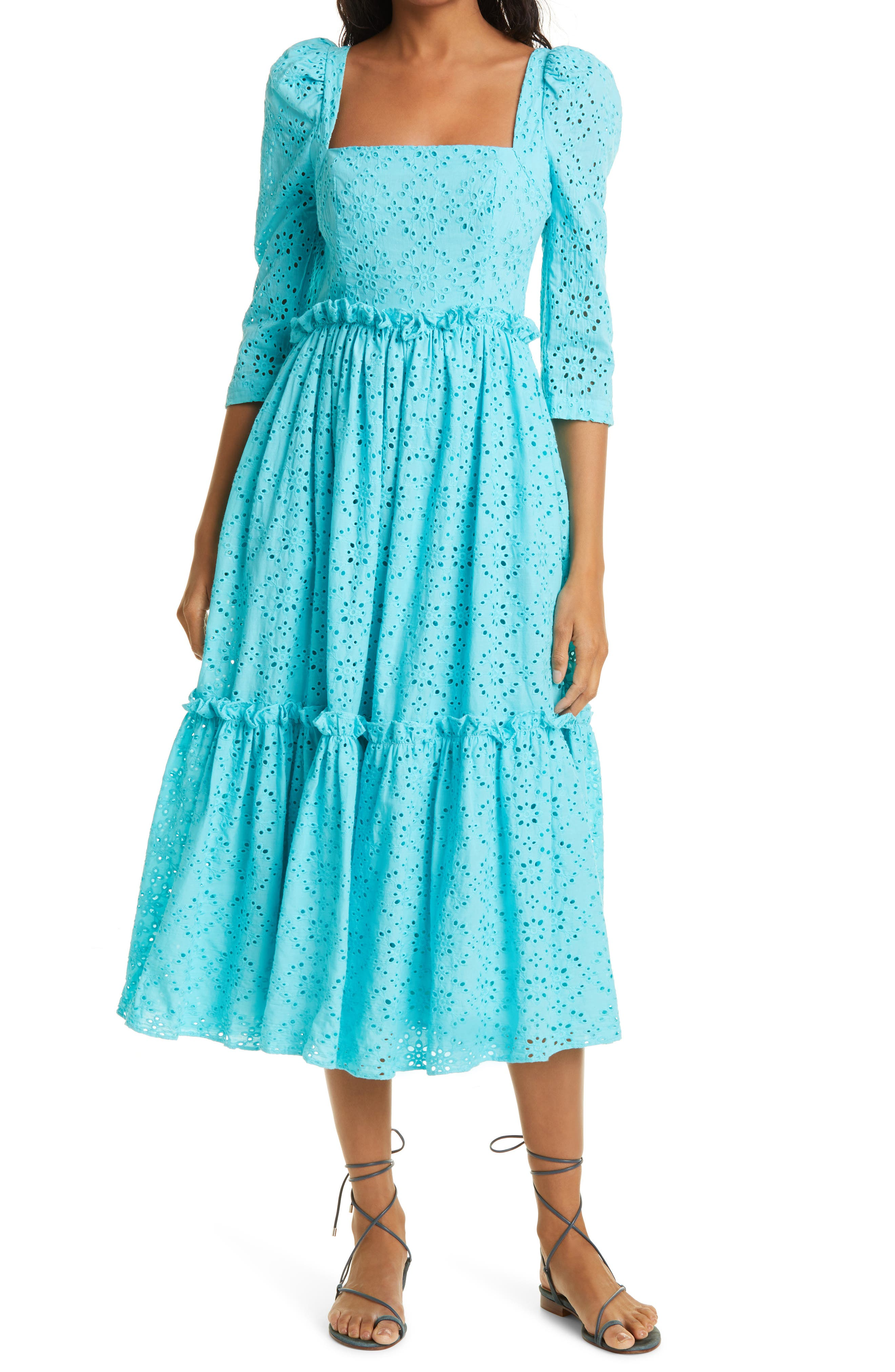 Blue Hill Cotton Eyelet Dress