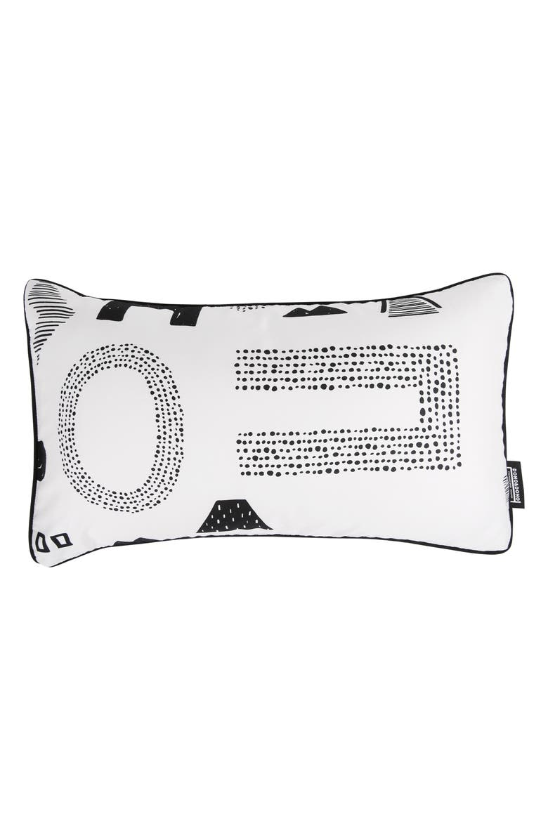 DONO & DONO Air Pillow with Pillowcase, Main, color, MAZE LETTER