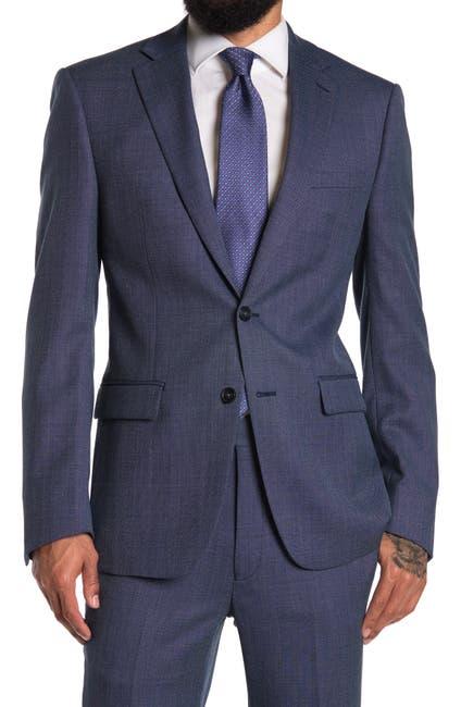 Image of Calvin Klein Blue Bird Two Button Notch Collar Jacket