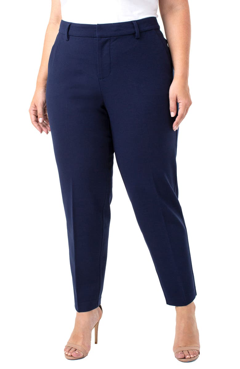 LIVERPOOL Kelsey Ponte Knit Trousers, Main, color, CADET BLUE