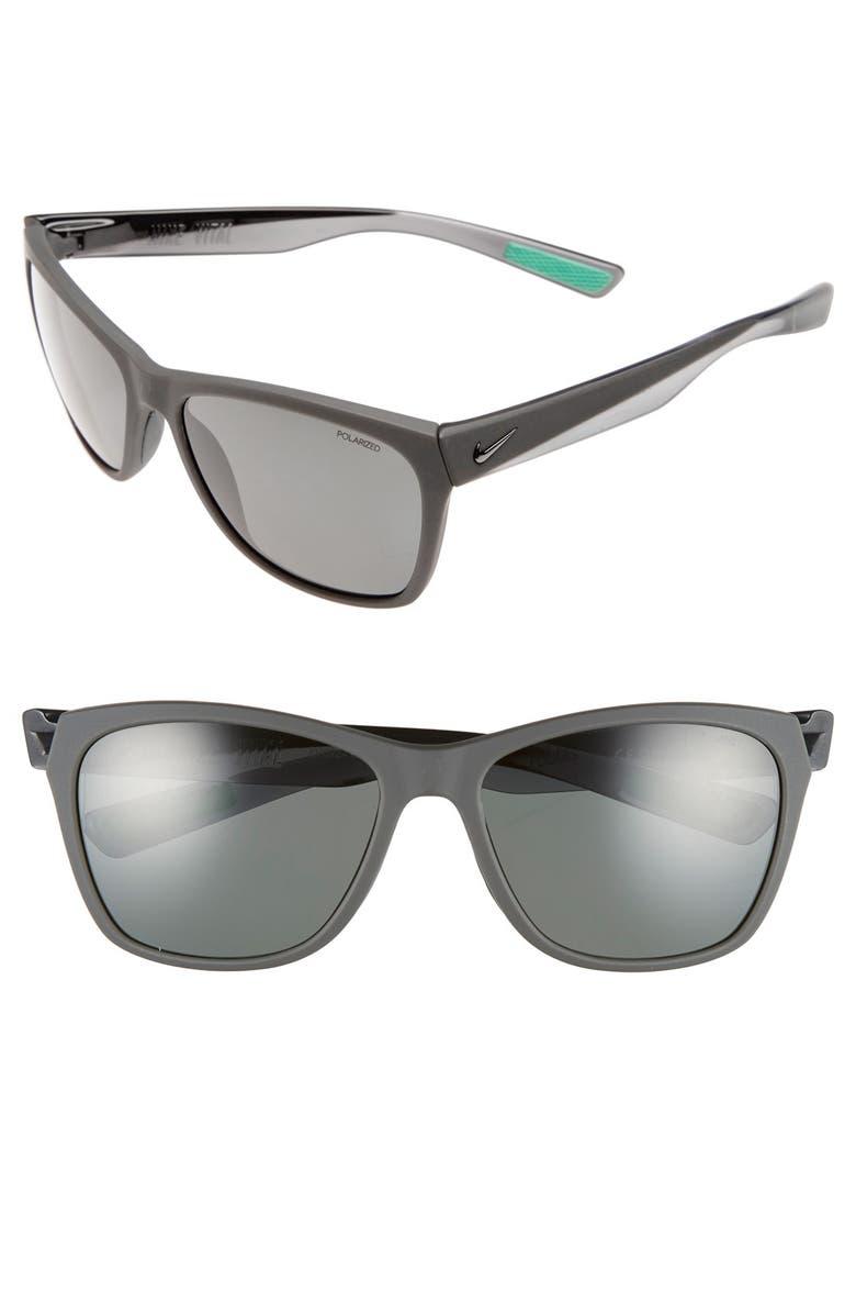 NIKE 'Vital' 58mm Polarized Sunglasses, Main, color, 020
